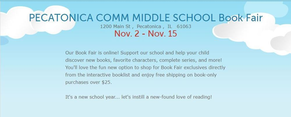Virtual Book Fair Nov. 2 - Nov. 15