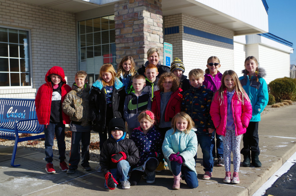 Jog-a-thon Winners Principal's Luncheon at Culver's