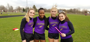 Middle School Girls 4x100 Relay Team Breaks Record!