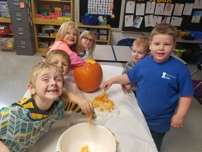 Ooey Gooey pumpkin fun!