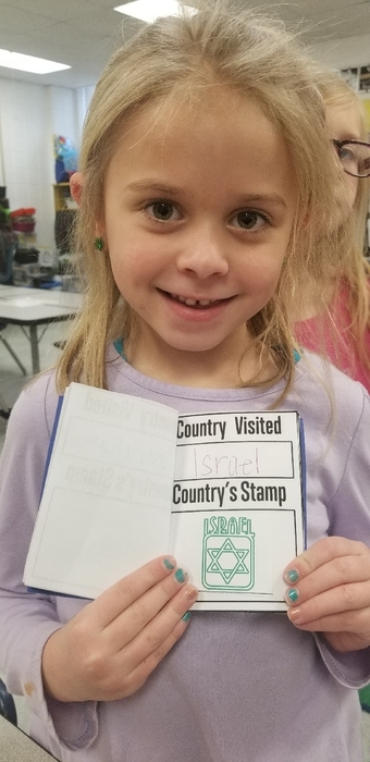 They made sure to get their passport stamped!